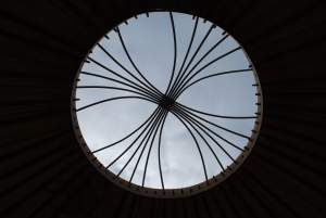 East Midlands Yurt roof wheel