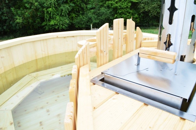 glamping in a hot tub