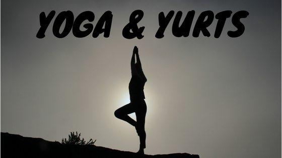 Yoga and yurt camping