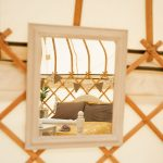 Mirror in Ginger & Pickles Yurt