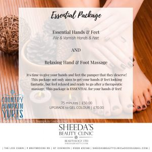 Sheeda's & Country Bumpkin beauty treatment packages